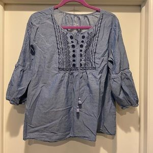 Super lightweight cropped tunic by St Johns bay